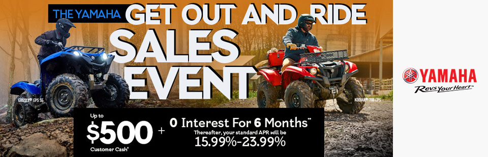 Yamaha: Up To $500 Customer Cash*+ 0 Interest For 6 Months